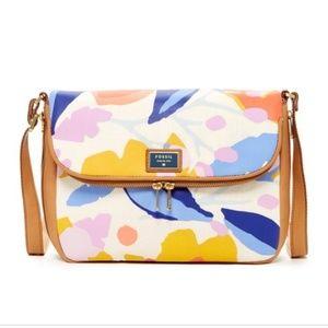 Fossil preston canvas flap handbag